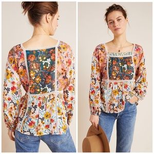 Anthropologie Nikki Peasant Blouse by Maeve
